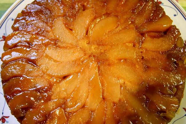 Betttty Crocker Upside Down Pear Gingerbread Cake