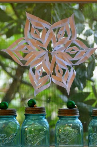 Hanging snowflake