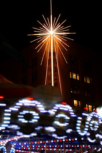 Macy's star shines over the Westlake carousel, Seattle
