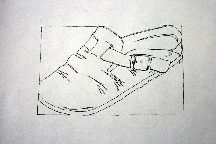 Line Art Shoes : Contour line drawings rosemary s