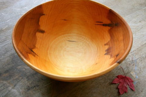 Bowl made from a red maple tree fallen on my family's farm