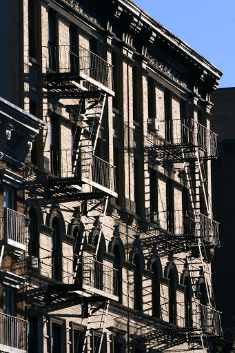 Fire escapes -- interesting patterns of dark and light