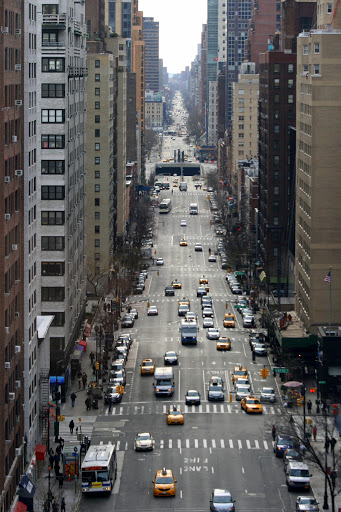 Street viewed from the Roosevelt Island tram