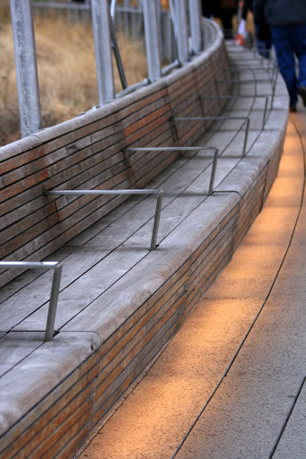 Benches with lighting near 34th St on the High Line