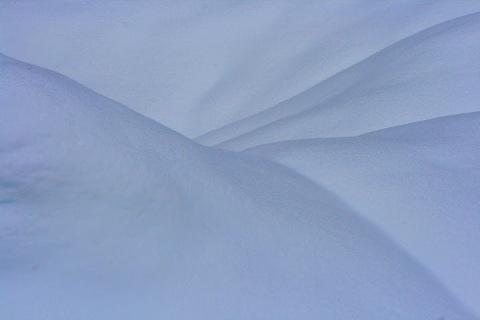 Pleated snowbank