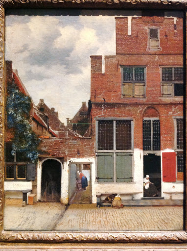"""The Little Street"" by Johannes Vermeer showing a street in Delft, from the Rijksmuseum collection"