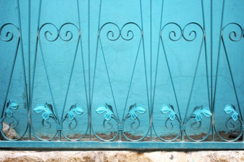 Grillwork on window