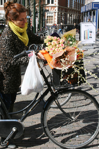 Bike loaded with shopping