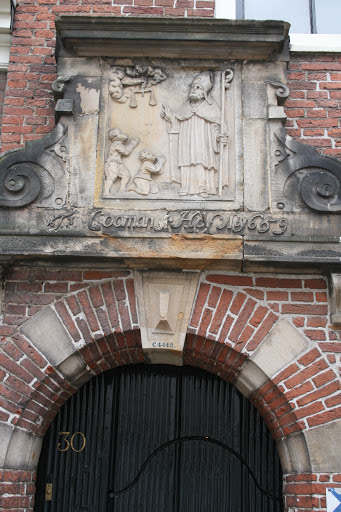 Door of alms house, Haarlem.  (Wealthy merchants charitably funded homes for widows and poor women.  I took a self-guided walk to see some of them.)