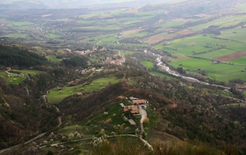 View down the valley from the Chapelle Saint Madeleine