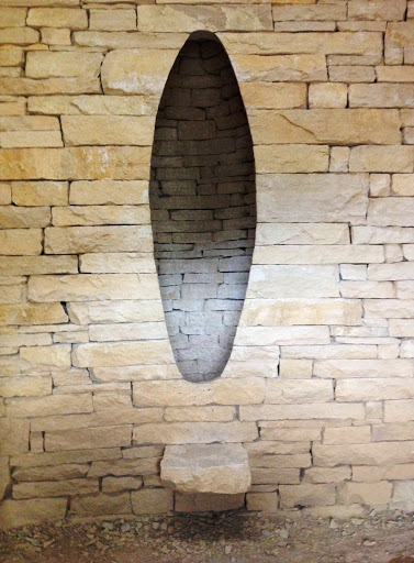 Andy Goldsworthy wall sculpture, Chapelle Saint Madeleine
