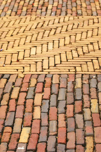 Stone surface in the market square, Delft