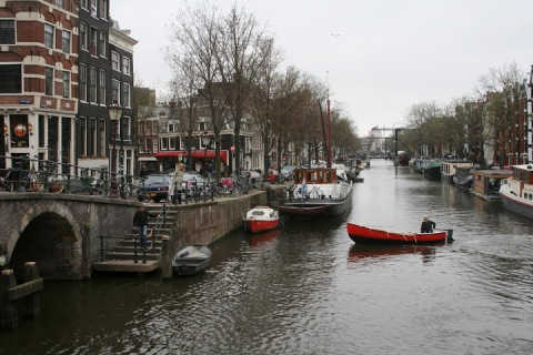 Canal life, Amsterdam