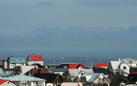 The red-roofed houses of Keflavik