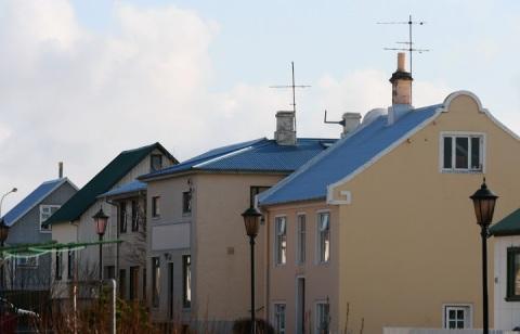 Blue roofs, Keflavik
