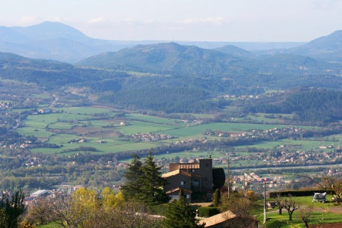 View at the start of the hike, up from the village of Courbons