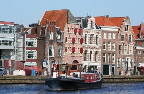Barge on the River Spaarne, Haarlem