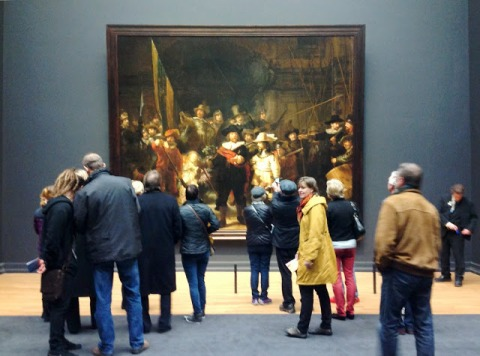 "Rembrandt's Night Watch, one of the ""must-see"" paintings housed here"
