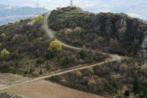 The road to Chapelle Saint Madeleine near Thoard
