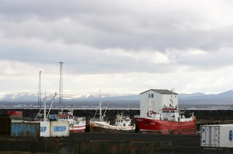 One of Keflavik's harbors