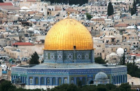 View of the Dome of the Rock from the Mount of Olives
