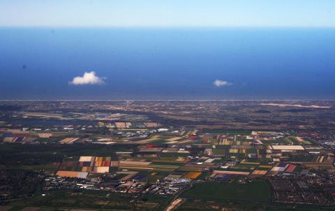 Last look at Holland from the airpolane window, my last day
