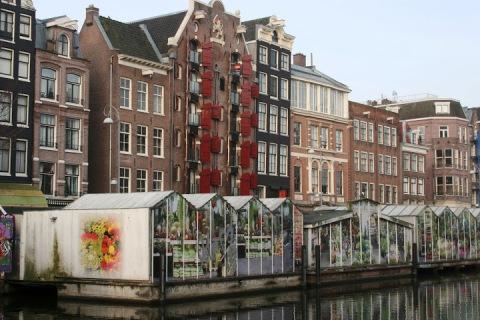 The Bloemenmarkt (flower market) on the Singel Canal