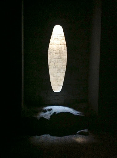 Goldsworthy installation in the Church of Forest