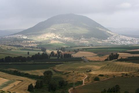Mount Tabor seen from the kibbutz