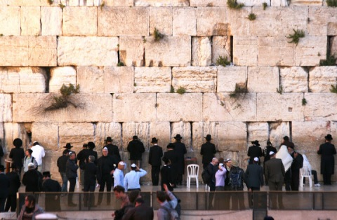 Western Wall, focus of prayer for Jews from around the world
