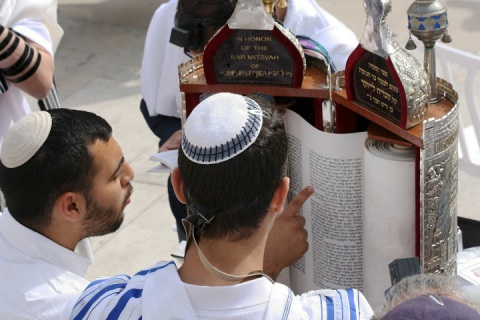 The next day, bar mitzvah celebrations at the Western Wall