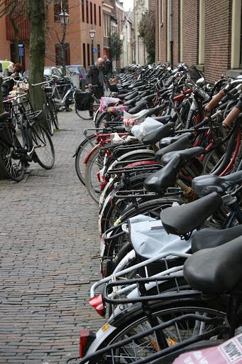 Parked bikes, Haarlem
