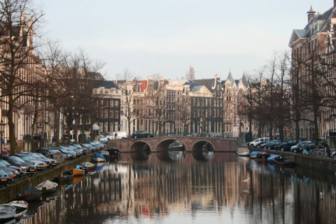 Canal reflections, Amsterdam