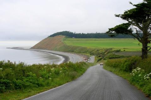Approaching Ebey's Landing trailhead