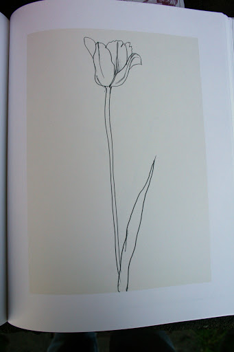 """Tulip"" by Ellsworth Kelly, 1984 from the book, Plant Drawings"