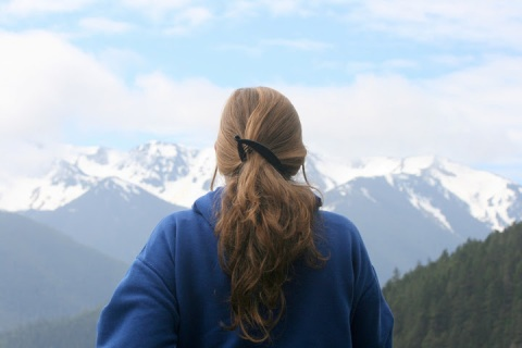 Looking out at the Olympic Mountains from Hurricane Ridge, Olympic National Park