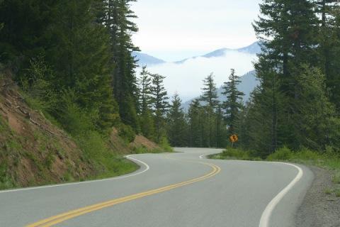 The winding road to Hurricane Ridge