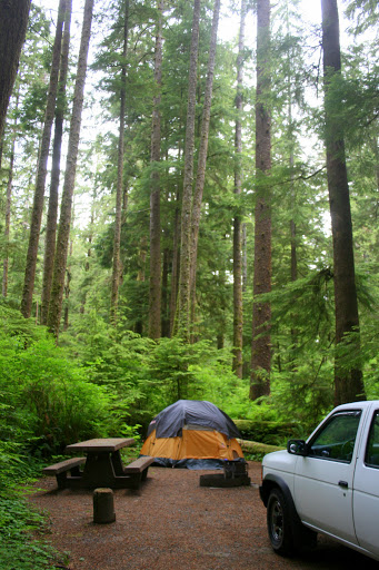 Our campsite at Mora Campground