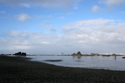 Ruby Beach in the morning