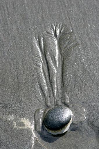 Beach art in the sand