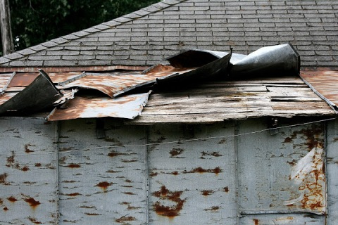 Roof of Uncle Pete's garage
