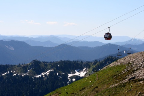 The gondola at Crystal Mountain Resort