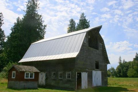 The lovely old barn on Bonnie's farm