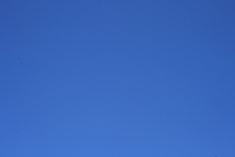 And back to blue -- the cloudless skies of a midsummer day