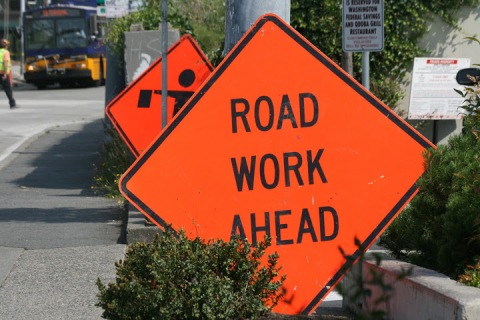 Orange signals summer road construction projects