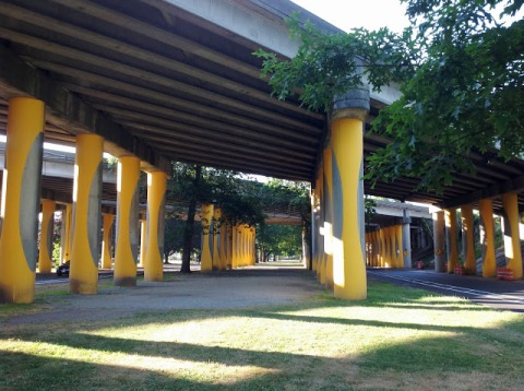 Under the I-5 bridge at Ravenna Blvd, Seattle