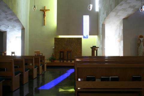 A patch of blue light, Chapel of St. Ignatius, Seattle U