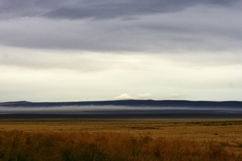 Eastern Washington with cloud bank