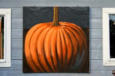 Pumpkin painting by Eddie Gordon