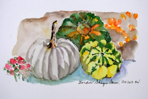 My first watercolor sketch at Gordon's